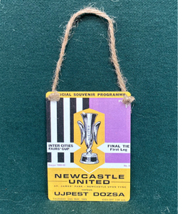 Newcastle Fairs Cup Final (Metal Dangle)
