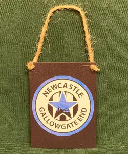 Newcastle Gallowgate End (Metal Dangle)