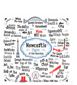 Newcastle Hyem of the Geordies (Greetings Card)