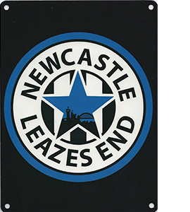 Newcastle Leazes End (Metal Sign)