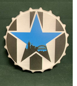 Newcastle Retro Blue Star (Large Metal Bottle Top)