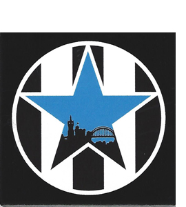 Newcastle Retro Blue Star (Ceramic Coaster)