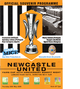 Newcastle United Fairs Cup Reunion Souvenir Brochure