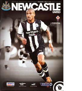 Newcastle United v Fiorentina 11/12 Programme