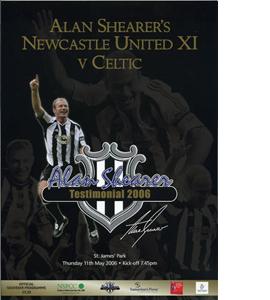 Alan Shearer Testimonial Newcastle v Celtic 05/06 (Programme)