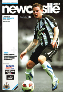 Newcastle United v Arsenal (Lge Cup) 10/11 Programme