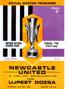 Newcastle Utd v Ujpest Dozsa Fairs Cup Final 1st Leg (Postcard)