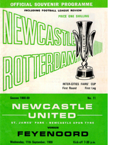 Newcastle United Fairs Cup 1st Round 1st Leg (Postcard)