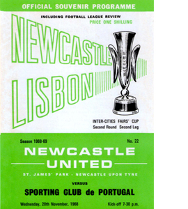 Newcastle Utd v Sp Lisbon Fairs Cup 2nd Rnd 2nd Leg (Postcard)