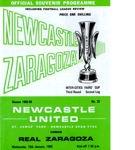 Newcastle Utd v Real Zaragoza Fairs Cup 3rd Rnd 2nd Leg (Postcar