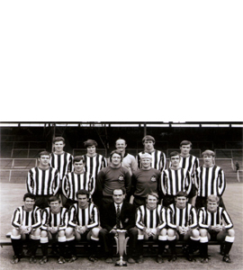 Newcastle United 1969 Fairs Cup Winners Side (Postcard)