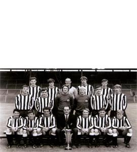 Newcastle United 1969 Fairs Cup Winners Side (Postcard)
