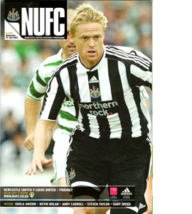 Newcastle United v Leeds United Friendly 09/10 (Programme)