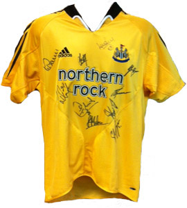 Newcastle United 2004/05 Away Shirt (Signed)