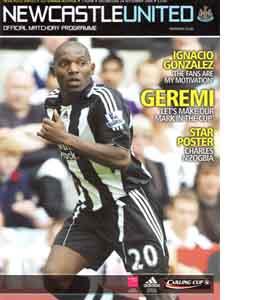 Newcastle United v Tottenham Hotspur Lge Cup 08/09 (Programme)