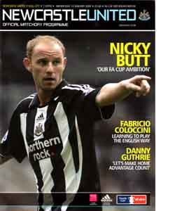 Newcastle United v Hull City FA Cup 08/09 (Programme)