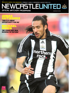 Newcastle United v PSV Eindhoven Friendly 08/09 (Programme)