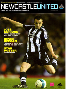 Newcastle United v Valencia Friendly  08/09 (Programme)