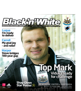 Newcastle United v Sampdoria Friendly 07/08 (Programme)