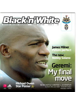 Newcastle United v Juventus Friendly 07/08 (Programme)