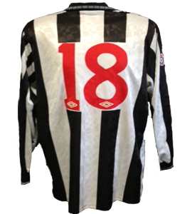 Newcastle United Shirt 1991-93 (Match-Worn)