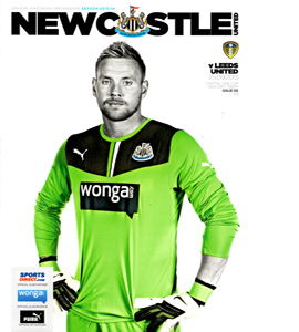 Newcastle United v Leeds United League Cup (Programme)