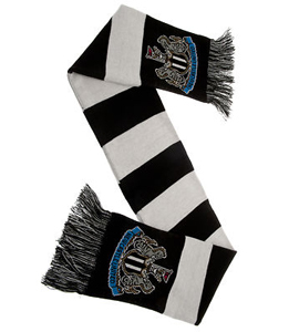 Official Newcastle United Black & White Bar Scarf
