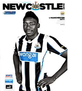Newcastle United v Manchester City League Cup (Programme)