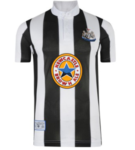 Newcastle United 1996 Official Retro Home Shirt