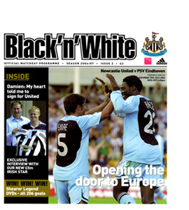 Newcastle United v PSV Eindhoven Friendly 06/07 (Programme)