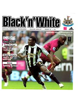 Newcastle United v Fenerbahce UEFA Cup 06/07 (Programme)
