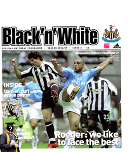 Newcastle United v Villarreal Friendly 06/07 (Programme)