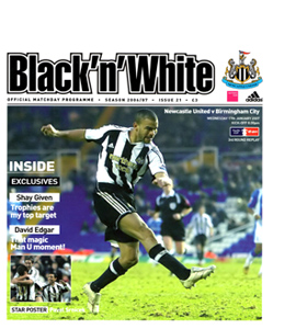 Newcastle United v Birmingham City FA Cup 06/07 (Programme)