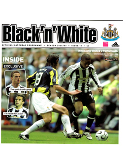 Newcastle United v Portsmouth League Cup 06/07 (Programme)