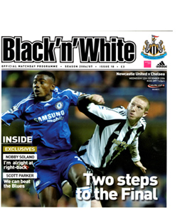 Newcastle United v Chelsea League Cup 06/07 (Programme)