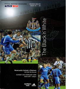 Newcastle United v Chelsea FA Cup 04/05 (Programme)