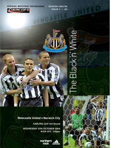 Newcastle United v Norwich City Lge C up 04/05 (Programme)