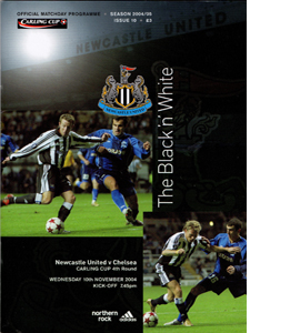 Newcastle United v Chelsea Lge Cup 04/05 (Programme)