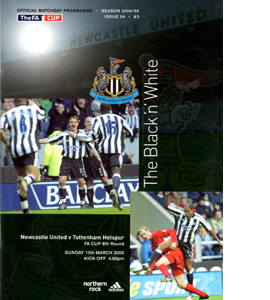 Newcastle United v Tottenham Hotspur FA Cup 04/05 (Programme)