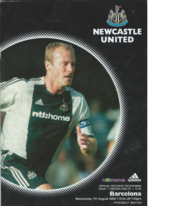 Newcastle United v Barcelona - Friendly 02/03 (Programme)