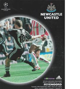 Newcastle United v Feyenoord - Champions Lge 02/03 (Programme)