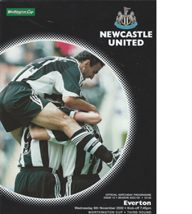 Newcastle United v Everton - League Cup  02/03 (Programme)