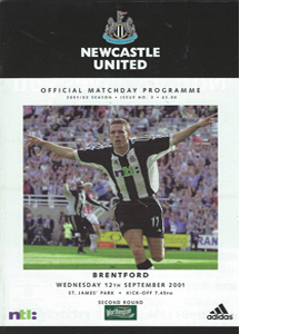 Newcastle United v Brentford - League Cup  01/02 (Programme)