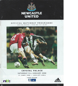 Newcastle United v Crystal Palace - FA Cup 01/02 (Programme)