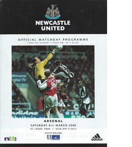 Newcastle United v Arsenal - FA Cup 01/02 (Programme)