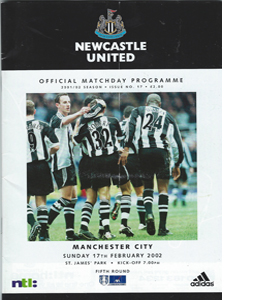 Newcastle United v Manchester City - FA Cup 01/02 (Programme)