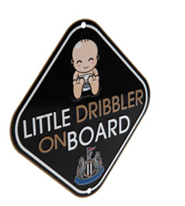 Newcastle United F.C. Little Dribbler Window Sign