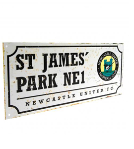 Newcastle United F.C. Retro Street Sign