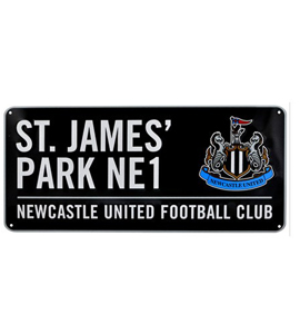 Newcastle United Colour Street Sign