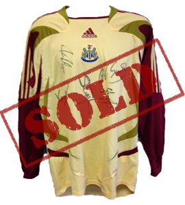 Newcastle United 2006/07 Goal Keeper Shirt (Signed)